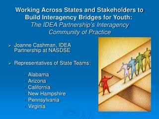 Joanne Cashman, IDEA Partnership at NASDSE Representatives of State Teams: Alabama Arizona