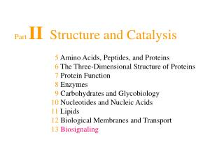 Part  II   Structure and Catalysis