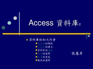 Access  資料庫 2