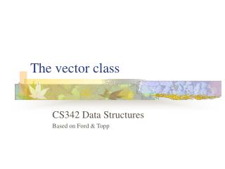 The vector class