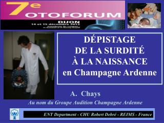 Chays Au nom du Groupe Audition Champagne Ardenne