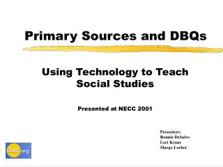 Primary Sources and DBQs