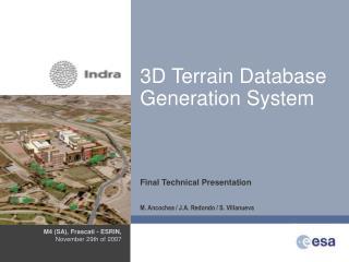 3D Terrain Database Generation System