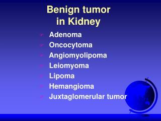 Benign tumor in Kidney