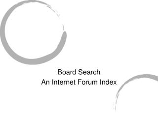 Board Search An Internet Forum Index