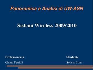 Panoramica e Analisi di UW-ASN