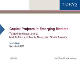 Capital Projects in Emerging Markets: