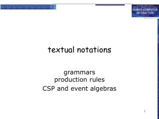 textual notations