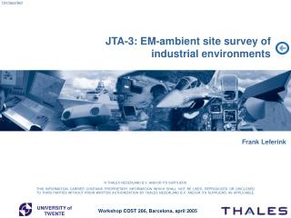 JTA-3: EM-ambient site survey of  industrial environments