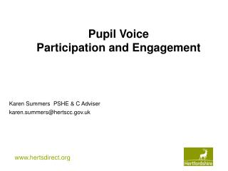 Pupil Voice  Participation and Engagement
