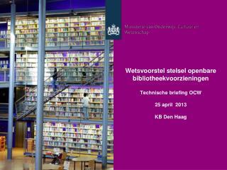 Een nieuwe bibliotheekwet: wat regelt een wet?