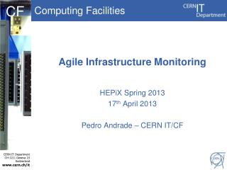 Agile Infrastructure Monitoring