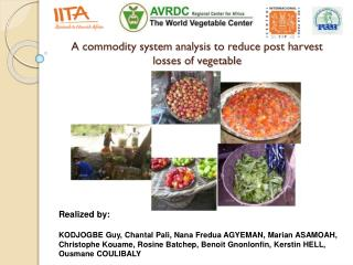 A commodity system analysis to reduce post harvest losses of vegetable