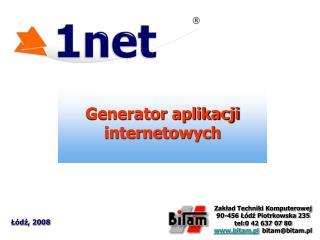 Generator aplikacji internetowych