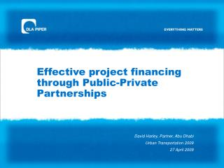 Effective project financing through Public-Private Partnerships