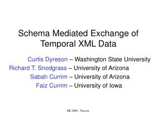 Schema Mediated Exchange of Temporal XML Data