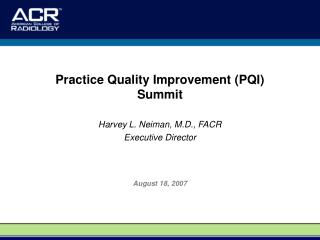 Practice Quality Improvement PQI Summit