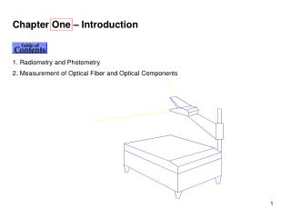 Chapter One – Introduction Contents 1. Radiometry and Photometry