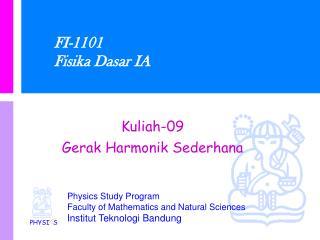 FI-1101 Fisika Dasar IA