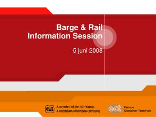 Barge & Rail  Information Session