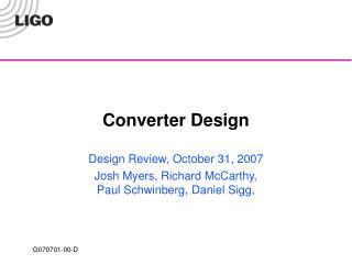 Converter Design
