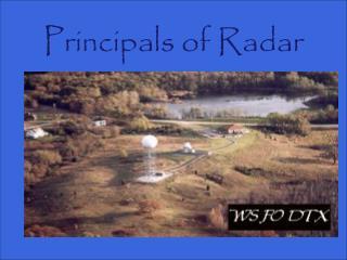 Principals of Radar