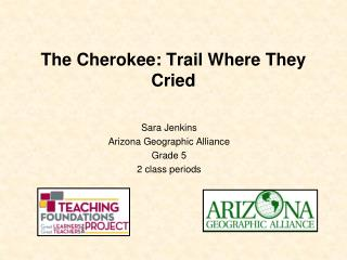 The Cherokee: Trail Where They Cried