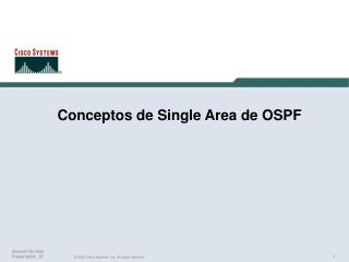 Conceptos de Single Area de OSPF