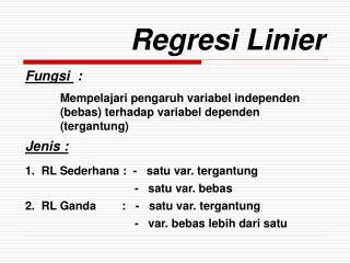 Regresi Linier