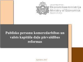 Publisko personu komercdarbības un valsts kapitāla daļu pārvaldības reformas