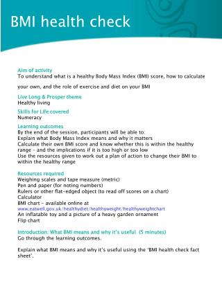 BMI health check