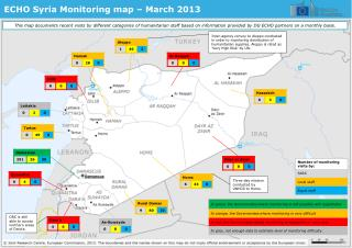 ECHO Syria Monitoring map – March 2013