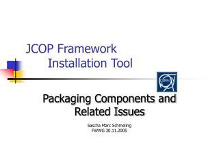 JCOP Framework Installation Tool