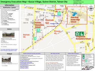 Emergency Evacuation Map—Gucuo Village, Guiren District, Tainan City