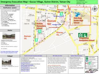 Emergency Evacuation Map�Gucuo Village, Guiren District, Tainan City