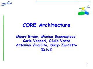 CORE Architecture Mauro Bruno, Monica Scannapieco, Carlo Vaccari, Giulia Vaste