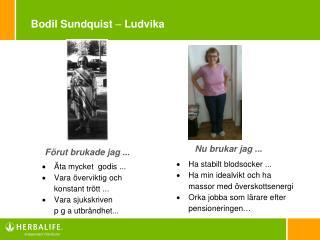 Bodil Sundquist  –  Ludvika