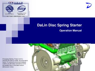 DaLin Disc Spring Starter Operation Manual
