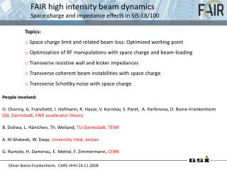 FAIR high intensity beam dynamics Space charge and impedance effects in SIS-18/100