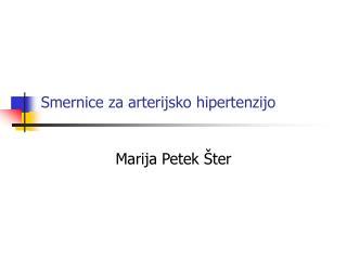 Smernice za arterijsko hipertenzijo