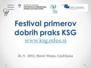 26. 9.  2012,  Hotel  Mons ,  Ljubljana