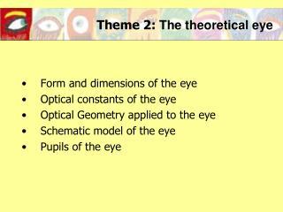 Theme 2:  The theoretical eye