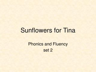 Sunflowers for Tina