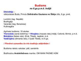 Budisms no 6.gs.p.m.ē. Indijā