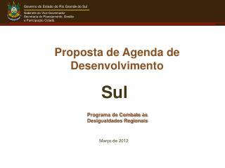 Programa de Combate às Desigualdades Regionais