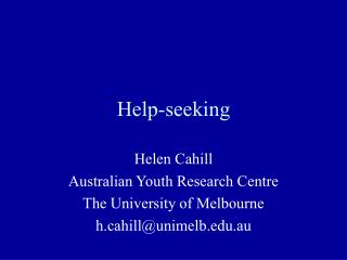 Help-seeking