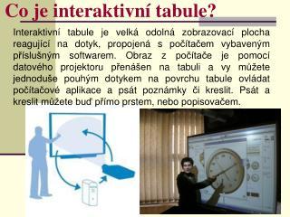 Co je interaktivní tabule?