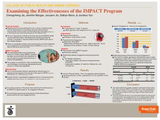 Examining  the  Effectivenesses of the IMPACT Program
