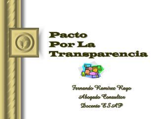 Pacto  Por La Transparencia