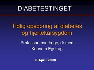 Tidlig opsporing af diabetes og hjertekarsygdom